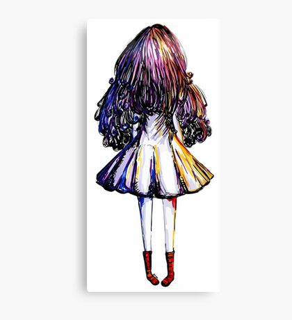 Girl and Red Doc Canvas Print