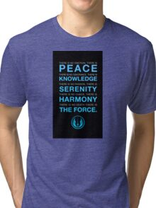 Jedi Code Tri-blend T-Shirt