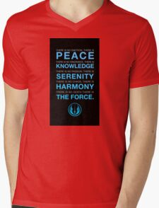 Jedi Code Mens V-Neck T-Shirt
