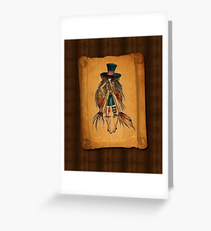 Who is the Mad Hatter ? Greeting Card