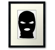 Ski Mask Framed Print