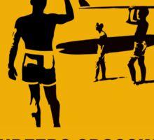 Surfers crossing Sticker