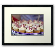 Butterfly Cup Cakes Framed Print