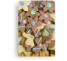 Cookie Shapes Canvas Print