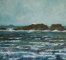 Fidra Island painting by Michelle Bailey