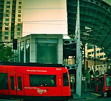 San Diego Trolley Series American Plaza by seeyoutoo