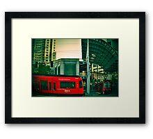 San Diego Trolley Series American Plaza Framed Print