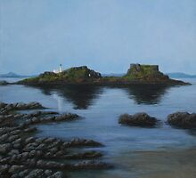Fidra Island, still water by Michelle Bailey