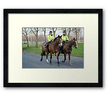 Mounted Law Enforcement Framed Print