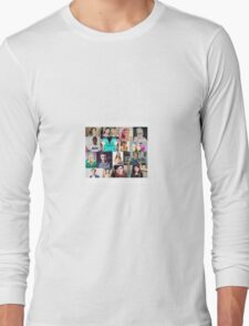 youtuber collage Long Sleeve T-Shirt