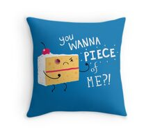 Angry Cake Throw Pillow