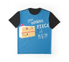 Angry Cake Graphic T-Shirt