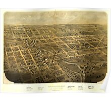 Panoramic Maps Birds eye view of the city of Albion Calhoun Co Michigan Poster