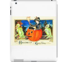 Vintage Halloween Witch Card 0001 iPad Case/Skin