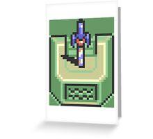 Master Sword Pedestal The Legend of Zelda Greeting Card