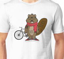 Hipster Beaver Unisex T-Shirt