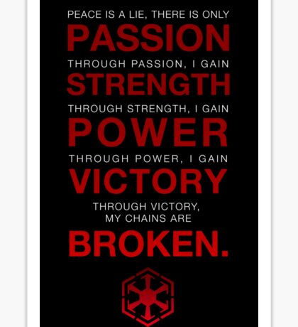 Code of the Sith Sticker