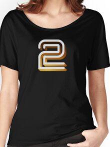 Retro BBC2 logo Women's Relaxed Fit T-Shirt