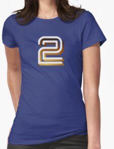 Retro BBC2 logo Womens Fitted T-Shirt