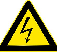 Warning sign. Lightning bolt.  by 2monthsoff