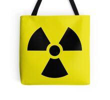 Nuclear bomb danger funny sign Tote Bag