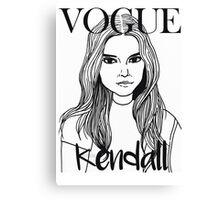 Kendall Jenner x VOGUE Canvas Print