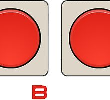 A B Buttons, NES controller pad. by 2monthsoff