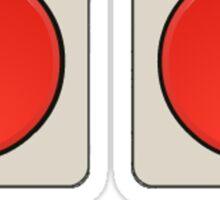 A B Buttons, NES controller pad. Sticker