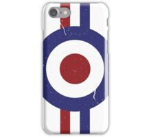 Weathered Target and stripes iPhone Case/Skin