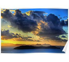 Storm Clouds over the Whitsundays Poster