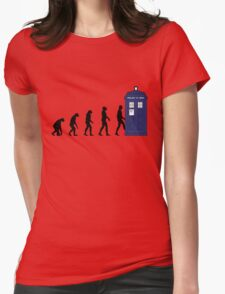 Evolution in time... Womens Fitted T-Shirt