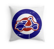 Weathered Mod Target and Scooter  Throw Pillow