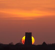 Sunset over Lavenham by Christopher Cullen