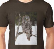 Great Grey Owl portrait Unisex T-Shirt