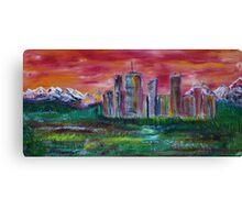 Sunset Skyline Canvas Print