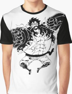 Luffy Gear 4 Attack Formation Graphic T-Shirt