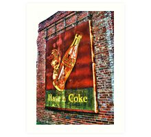 Old Coke Sign (approx 1940's found in Tarrytown, GA) Art Print
