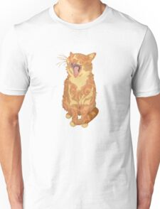 Yawning Cute Pussy Unisex T-Shirt