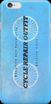 Vintage British Puncture Repair Kit (iPhone Case) by Alisdair Binning