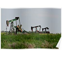 Oil Well Pumps Poster