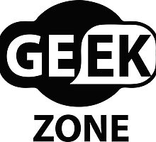 Laptop Funny Geek Zone Sign by 2monthsoff