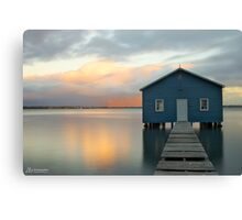 Crawley Boat Shed, Perth, Western Australia Canvas Print