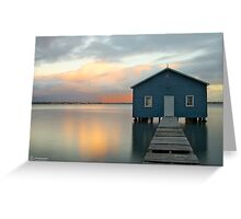 Crawley Boat Shed, Perth, Western Australia Greeting Card