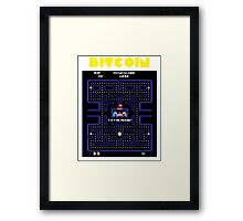 Pac-Man Bitcoin Framed Print