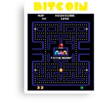 Pac-Man Bitcoin Canvas Print