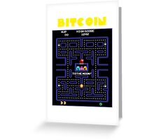 Pac-Man Bitcoin Greeting Card