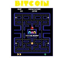 Pac-Man Bitcoin Photographic Print