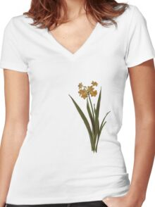 Wild Jonquil Women's Fitted V-Neck T-Shirt
