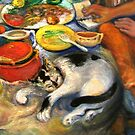 The Artist's Table, Detail by Barbara Sparhawk