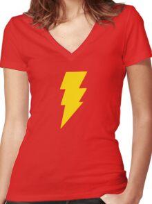 COOL BOLT Women's Fitted V-Neck T-Shirt